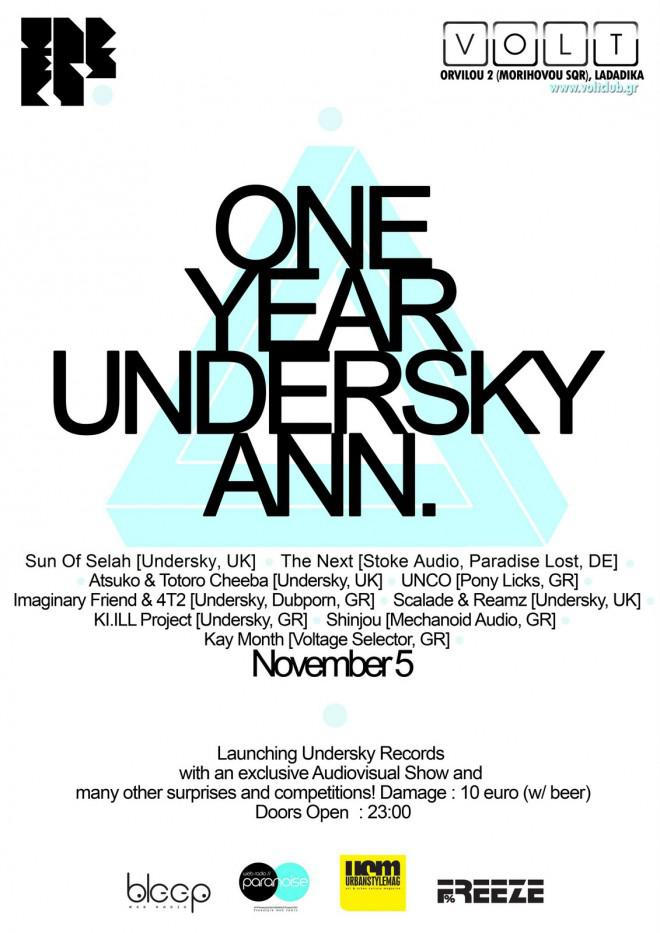 one year undersky ann. final poster