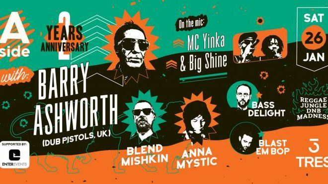 A-side 2 years anniversary with Barry Ashworth in Athens / we support
